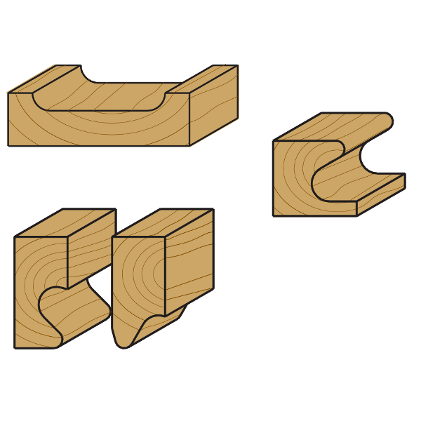 fraises cmt pour moulures d coratives outils pour travailler le bois. Black Bedroom Furniture Sets. Home Design Ideas