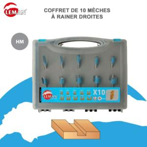 COFFRET 10 FRAISES A DEFONCER CARBURE QUEUE 8 MM