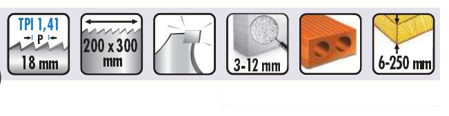 lame de scie sabre pour la brique s1243hm. Black Bedroom Furniture Sets. Home Design Ideas